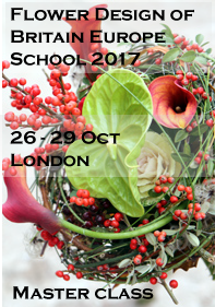 Flower Design of Britain Europe school 2017 Master class workshop